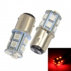 Merdia 1157 1.5W 182lm 13 x 5050 SMD LED Red Light Car Brake / Steering Light (12V / 2PCS)
