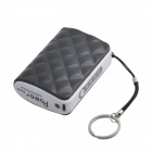 JJZ Portable 6500mAh  External Battery Charger Power Bank for Cell Phone + More - Black + White