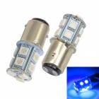 Merdia 1157 1.5W 182lm 13 x 5050 SMD LED Blue Light Car Brake Light / Steering Light (12V / 2PCS)