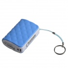 JJZ Portable 6500mAh  External Battery Charger Power Bank for Cell Phone + More - Blue + White