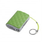 JJZ Portable 6500mAh External Battery Charger Power Bank for Cell Phone + More - Green + White