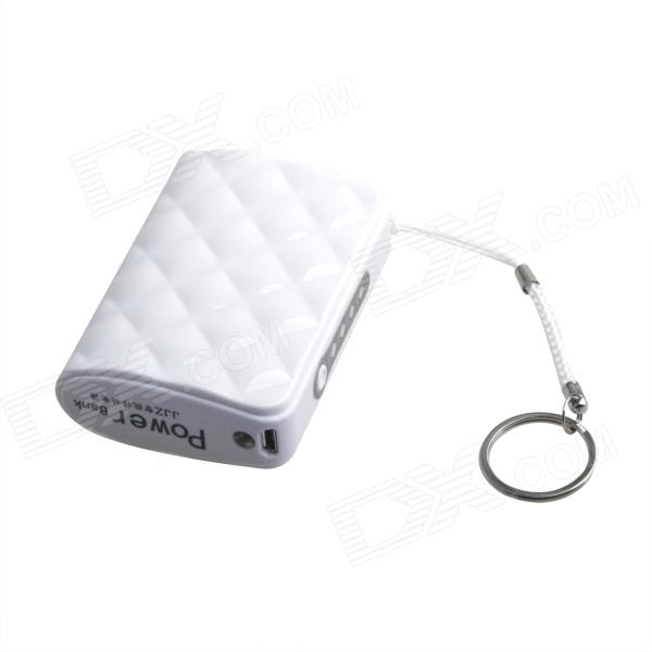 все цены на JJZ Portable 6500mAh  External Battery Charger Power Bank for Cell Phone + More - White онлайн
