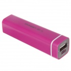 OVAEST BDW-101 3000mAh Mobile Power Source Bank for IPHONE / Samsung + More - Deep Pink