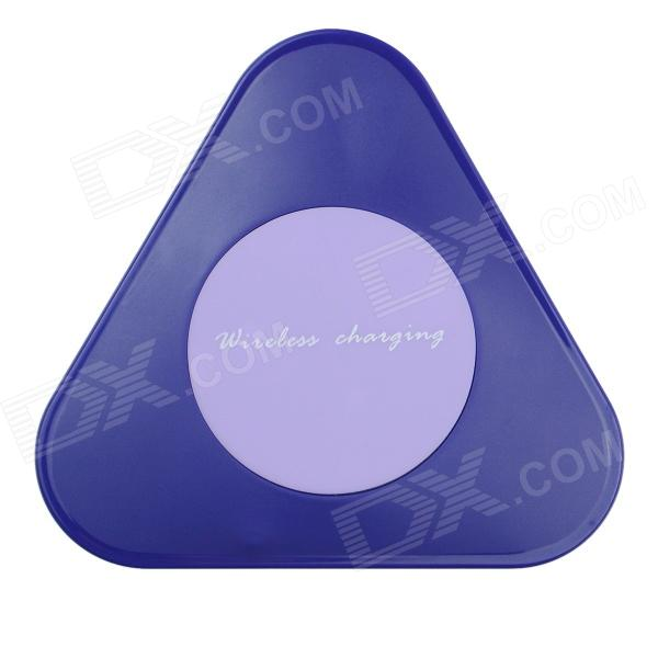 Super Mini Universal QI Standard Wireless Charger Charging Plate - Hyacinth qi 4 mini qi standard wireless charger emitter wireless charging receiver set for samsung s4 i9500