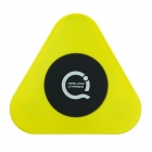 Super Mini Universal QI Standard Wireless Charger Charging Plate - Black + Yellow