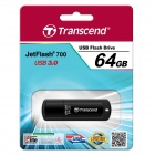 Transcend 64GB JetFlash 700 USB 3.0 Flash Drive Negro