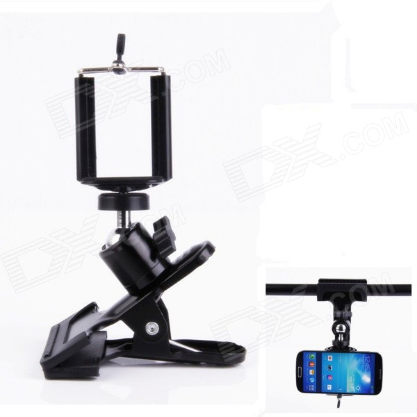 Clamp Mount Holder Bracket for Flash Lamp / Camera / IPHONE / Samsung / HTC + More - Black