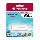 Transcend 64GB JetFlash 730 USB 3.0 Flash Drive White