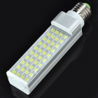 E27 8W 640LM 6000K 40-5050 SMD LED White Light Bulb - Silver + White (AC 85~265V)