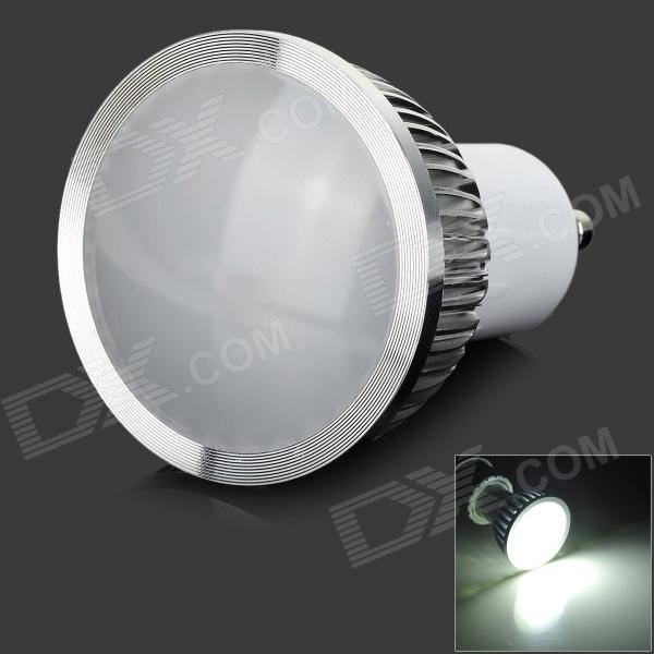 GU10 4W 240lm 6000K 4-LED White Light Foggy Spotlight - Silver (AC 85~265V)
