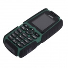 "XiaoCai X6 Waterproof GSM Bar Phone w/ 1.77"" Screen, Flashlight, Mobile Charger - Black + Olive"