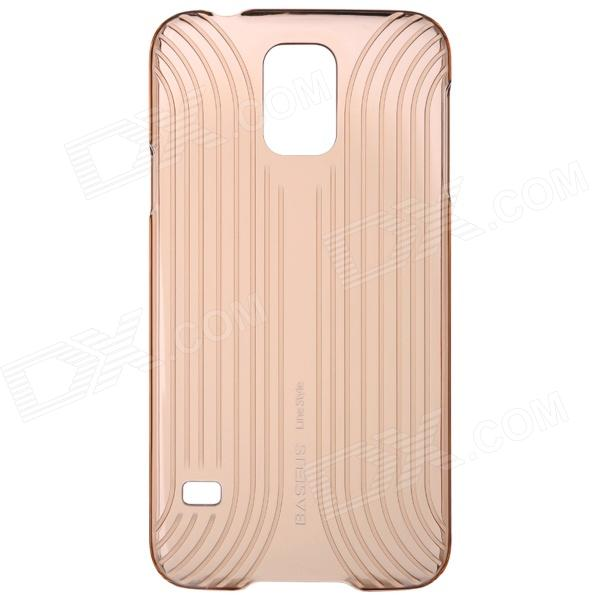 BASEUS LSSAS5-BC02 Protective Plastic Back Case for Samsung Galaxy S5 - Translucent Champaign Gold temei protective plastic back case for samsung galaxy s5 red transparent
