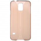 BASEUS LSSAS5-BC0V Protective Plastic Back Case for Samsung Galaxy S5 - Translucent Golden