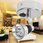 KX-S035A-31B 3W 270LM 3200K Warm White 360' Lighting Mini Wall lamp - Silver White + Black (90~265V)