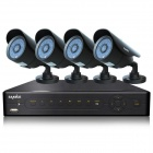 SANNCE P2P HDMI 8-CH + 4*800TVL Bullet Camera CCTV Home Security System 500GB (For NTSC Country)