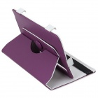 "Universal 360 Degree Rotational PU Leather Case w/ Stand for 7"" Tablet PC - Purple"