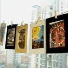 "6"" Novel DIY Hanging Paper Photo Frames Set - Black + White + Brown (10 PCS)"