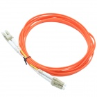 CMI LC-LC Dual-core Gigabit Multimode Fiber Optical Jumper Cable - Orange Red (300cm)