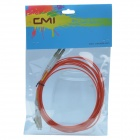 CMI LC-LC Dual-core Gigabit multimode fibre optique Jumper Cable - Orange Rouge (300cm)