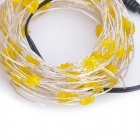 Flower Shaped 4W 100-0603 SMD LED Yellow Light String Light - Silver + Yellow (DC 12V / 1000cm)