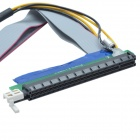 CMI K102 PCI-E 1 to16 Riser Card Adapter Flex Extension Cable w/ Power Connector