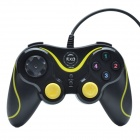 Xtreme KXD-881S USB 2.0 Wired Computer Game Handle Controller - Black + Yellow (145cm-Cable)