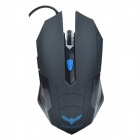 HAVIT HV-MS691 Standard Edition Magic Eagle USB Wired Optical Gaming Mouse - Black (163cm-Cable)