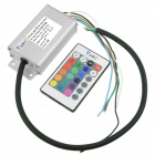 WaLangTing 24-key RF Remote Control + LED Waterproof Power Controller 20W RGB Light Strip Power