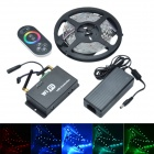 24W 12V 150-SMD 5050 RGB Epoxy Decoration LED Strip Lamp w/ WiFi-LED Controller - White