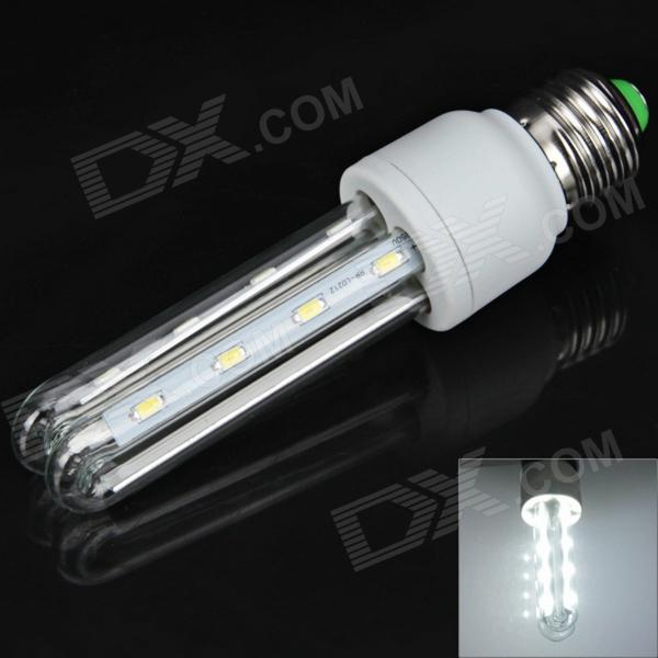 E27 8W 360lm 6000K 16 x SMD 5730 LED White Light Energy-Saving Lamp - White (85~265V) - DXE27<br>Base Type E27 Type Corn Bulbs Output Power 8W Total Emitters 16 x 5730 SMD LED Voltage (V) AC85-265 Features Energy Saving Long Life Expectancy Low Power Consumption Function Studio and Exhibition Lighting Commercial Lighting Home Lighting Light Color Natural White Warm White Sheathing Material Glass Plastic Dimension and Weight  Product weight 0.045 kg Package weight 0.12 kg Product size (L x W x H) 4 x 4 x 14.5 cm Package size (L x W x H) 5 x 5 x 16 cm  Package Contents 1 x 2U Lamp.<br>
