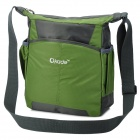 "OKADE T24 Casual Nylon One-Shoulder Bag for 11.6"" Laptop / Tablet PC - Dark Green + Black"