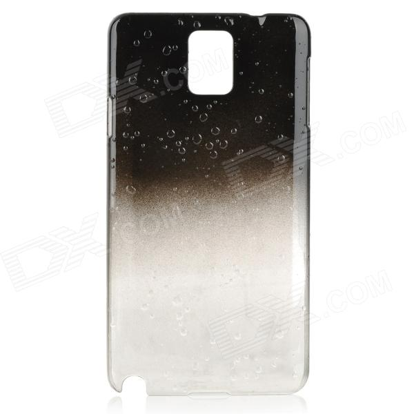 Gradient Raindrops Pattern Protective Plastic Case for Samsung Galaxy Note 3 - Black + Translucent