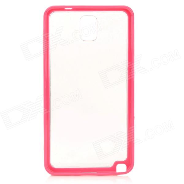 2-in-1 Protective Silicone + Plastic Back Case for Samsung Note 3 - Deep Pink + Transparent