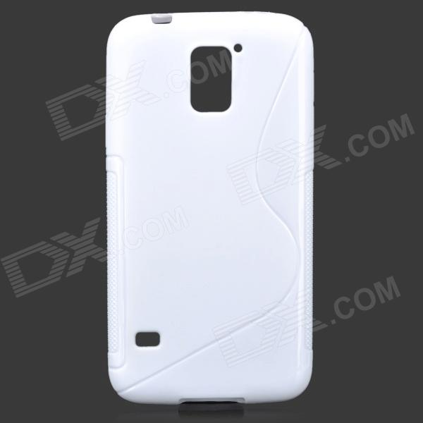 HD-1152 Protective S Pattern Plastic Back Case for Samsung Galaxy S5 i9600 - White 3 in 1 fish eye macro wide angle clip lens white black