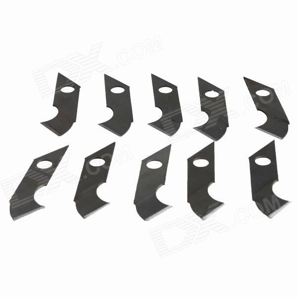 44 x 8 x 0.6mm 16# Carbon Steel Sculpting Knife Blades (10 PCS)
