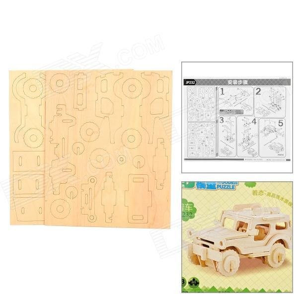 Kid's 3D Wooden Puzzle Educational Toy - Burlywood