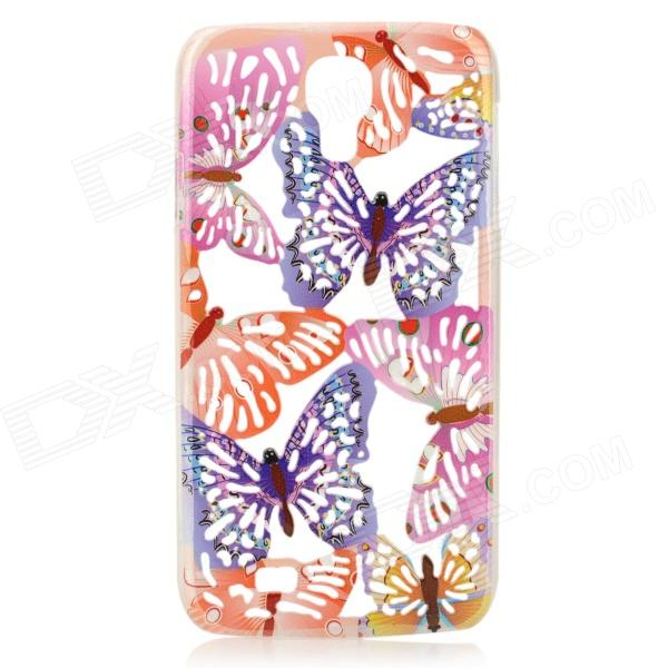 A1LJ Butterfly Pattern Protective Plastic Back Case for Samsung Galaxy S4 i9500 - Purple + Orange protective cute spots pattern back case for samsung galaxy s4 i9500 multicolored