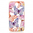 Butterfly Pattern Protective Plastic Back Case for Samsung Galaxy S4 i9500 - Purple + Orange