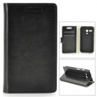 Protective PU Leather Case w/ Card Slot for MOTO G - Black