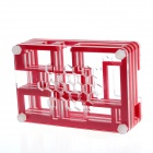 PI05 Protective 9-Layer Acrylic Case Enclosure Box for Raspberry PI - Transparent +  Red