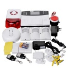 9100-A Quad-Band GSM SMS Home Burglar Security Alarm System w/ Detector Sensor Kit / Remote Control