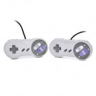 Wired SNES Interface Game Controller for SFC / SNES Console - Black + Grey (2 PCS)