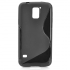 HD-1152 Protective S Pattern Plastic Back Case for Samsung Galaxy S5 i9600 - Black