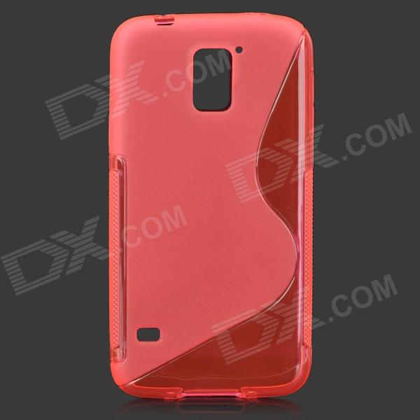 HD-1152 Protective S Pattern Plastic Back Case for Samsung Galaxy S5 i9600 - Deep Pink cartoon pattern matte protective abs back case for iphone 4 4s deep pink