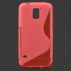 HD-1152 Protective S Pattern Plastic Back Case for Samsung Galaxy S5 i9600 - Deep Pink