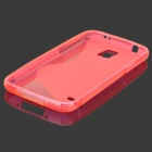 HD - 1152 Protective S mønster plast tilbake tilfelle for Samsung Galaxy S5 i9600 - Deep Pink
