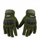 OUMILY Outdoor Tactical Full-Finger Gloves - Army Green (Size XL / Pair)