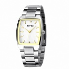 EYKI 8595 Men's Electroplating Steel Dial Quartz Wrist Watch - Silver + White + Multi-Colored