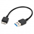 USB to USB 3.0 Micro B Type Charging Cable for Samsung - Black (23cm)