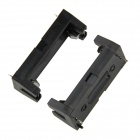DIY 3V CR123A/16340/17335 Battery Holder With Pins - Black (2PCS)